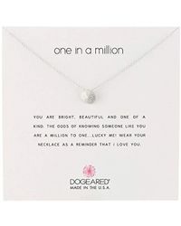 "Dogeared - Reminders Sand Dollar Charm Necklace, 18"" - Lyst"
