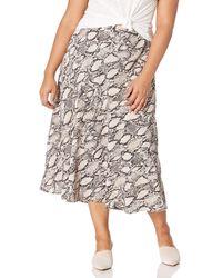 Nine West Printed Flare Skirt - Multicolor