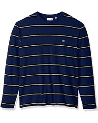 Lacoste - Long Sleevestriped Heavy Jersey Tee-with Chine Stripes - Lyst