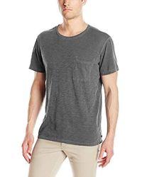 Michael Stars - Oil Wash Short Sleeve Crew Neck Pocket T-shirt, - Lyst