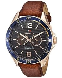 Tommy Hilfiger - 'sophisticated Sport' Quartz Resin And Leather Casual Watch, Color:brown (model: 1791367) - Lyst