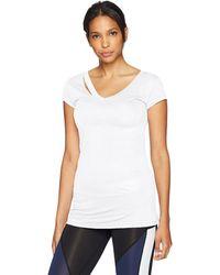 Sam Edelman Ripped Short Sleeve Tee Shirt - White