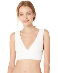 Billabong Too Salty Plunge Bikini Top - White