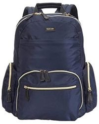 """Kenneth Cole Reaction Sophie Silky Nylon 15.0"""" Laptop & Tablet Anti-theft Rfid Backpack - Blue"""