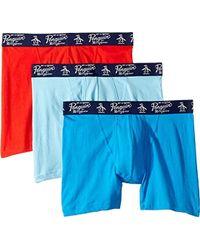 Original Penguin - Cotton Basic Underwear 3 Pack Boxer Brief - Lyst