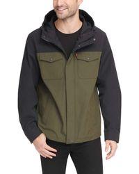 Levi's Big and Tall Arctic Cloth Hooded Rain Slicker Jacket - Vert