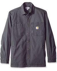 CARHARTT Uomo Shirt LW Rigby SOLID L//S Shirt Dark Khaki