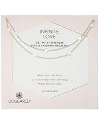 Dogeared - Silver Infinite Love Chain Necklace, 32 Inches - Lyst