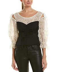 Rebecca Taylor - Long Sleeve Malorie Top - Lyst