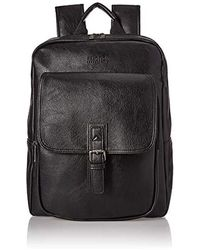 Kenneth Cole Reaction Faux Leather Backpack Business - Black