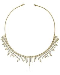 Noir Jewelry - On Point Gold Necklace - Lyst