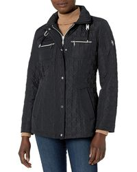 Vince Camuto Belted Quilted Coat - Black