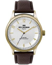 Ben Sherman - Quartz Gold-tone And Leather Casual Watch, Color:gold-toned (model: Wb025tg) - Lyst