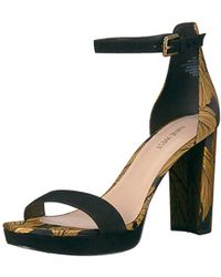 7685f75008d3 Lyst - Nine West Dempsey Open Toe Sandals in Black