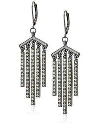 Kenneth Cole - Black Diamond Stone Stick Fringe Drop Earrings, One Size - Lyst