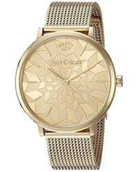 Juicy Couture - 'la Ultra Slim' Quartz Gold-tone-stainless-steel Casual Watch, Color:gold (model: 1901586) - Lyst