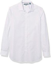 Perry Ellis Mens Big and Tall Printed Mini Dot Stretch Shirt