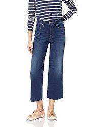 Ella Moss Cropped Wide - Leg Jeans In Vivien - Blue