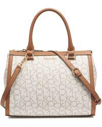 Calvin Klein H9adj9uk Shoulder-handbags - Natural