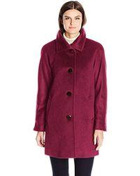 29576a02b8a Ellen Tracy - Outerwear Angora Blend Kimono - Lyst