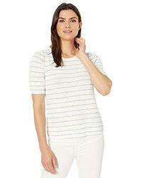 Calvin Klein - Contrast Stitching Sweater Top - Lyst