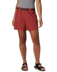 Columbia Plus Size Sandy River Breathable Cargo Short With Upf 30 Sun Protection - Red