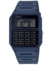 G-Shock Data Bank Quartz Watch With Resin Strap - Blue