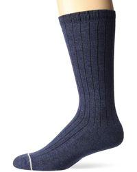 UGG Murphy Ribbed Crew Sock, Navy Heather, O/s - Blue
