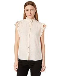 54441956df8566 Lyst - Rebecca Taylor Silk Top With Tie Sleeves in Natural