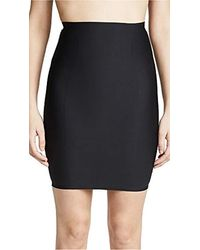 Yummie By Heather Thomson Hidden Curve High Waist Firm Control Shapewear Skirt Slip - Black