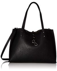2113cbcff4 Calvin Klein - Marlise Bubble Lamb Novelty East west Large Tote - Lyst