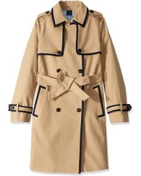 Tommy Hilfiger Adaptive Long Trench With A Velcro Brand Closure Belt - Natural