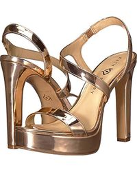 81c9668524a2 Lyst - J.Crew Mirror Metallic Kitten-heel Sandals in Metallic