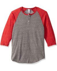 Alternative Apparel Eco-jersey 3/4-sleeve Raglan - Gray