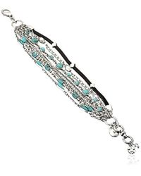 Lucky Brand - S Mini Lucky Layer Turquoise Bracelet - Lyst