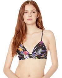 Hurley Floral Bralette Surf Top - Black