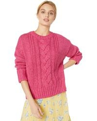Parker Yarna Oversized Cable Knit Sweater - Pink