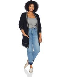 Lucky Brand Plus Size Button Front Cardigan Sweater - Black