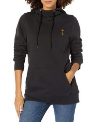 Volcom Costus Pollover Baselayer Hooded Fleece Snow Sweatshirt - Black
