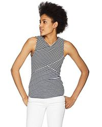 Three Dots - Desert Stripe Tight Short Sleeveless Top - Lyst