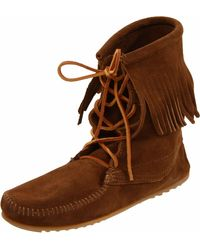 Minnetonka Ankle Hi Tramper Boot - Brown
