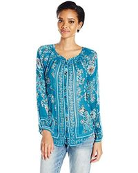 32ff6656c651d Lyst - Banana Republic Silk Utility Blouse Cancun Turquoise in Green