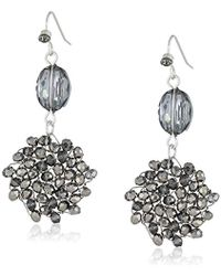 "Kenneth Cole - ""woven Item"" Woven Faceted-bead Double Drop Earrings - Lyst"