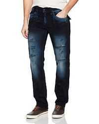 True Religion - Geno Slim Straight Jeans With Back Flap Pockets2 - Lyst