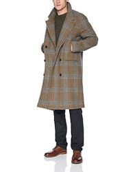 Billy Reid - Cashmere Double Breasted Thomas Overcoat With Leather Detail, - Lyst