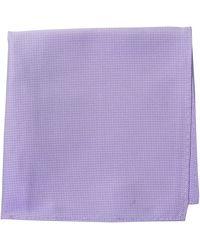 Ben Sherman Core 100% Silk Pocket Square - Purple