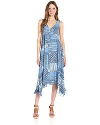 Nanette Nanette Lepore - Slvls Printed Chiffon Dress With Hankerchief Hem - Lyst