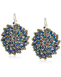 """Kenneth Cole - """"multi-color"""" Gold And Multi-colored Beaded Woven Drop Earrings - Lyst"""