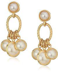 Anne Klein - Gold Tone Shaky Post Drop Earrings - Lyst