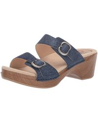 Dansko Sophie Denim Sandal 11.5-12 M Us - Blue